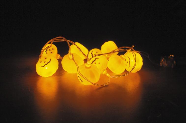 Guirlande citrouille lumineuse pas cher