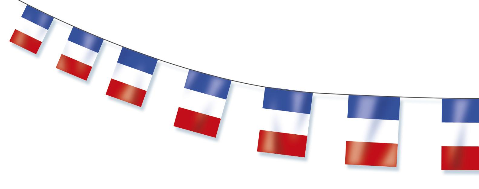 Guirlande drapeaux France pas cher