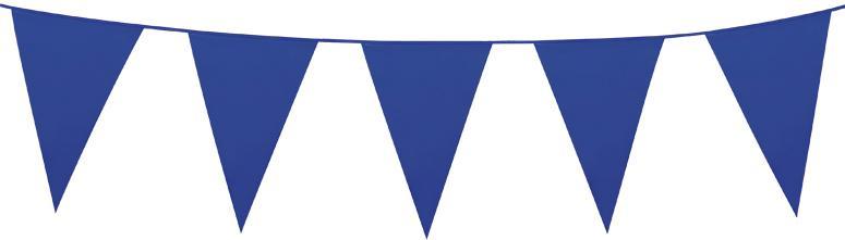 Guirlande fanion bleu grand modele pas cher