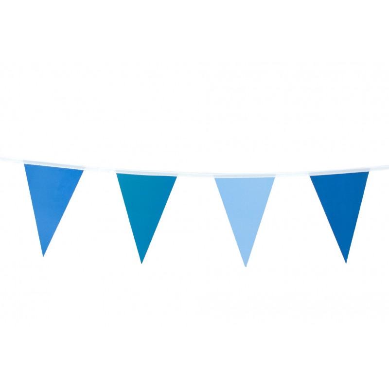 Guirlande fanion bleu petit modèle pas cher