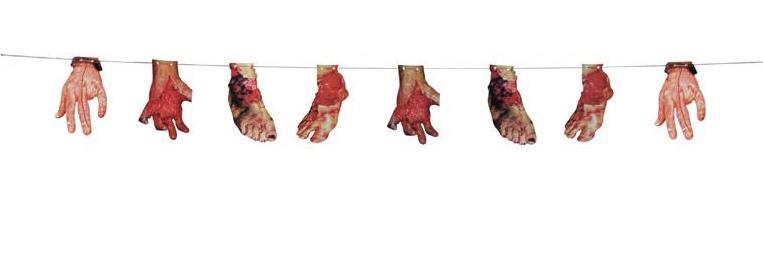 Guirlande membres sanglants pas cher