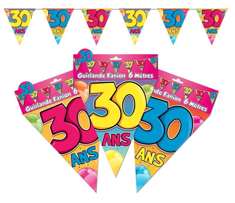 Guirlande anniversaire fanions 30 ans