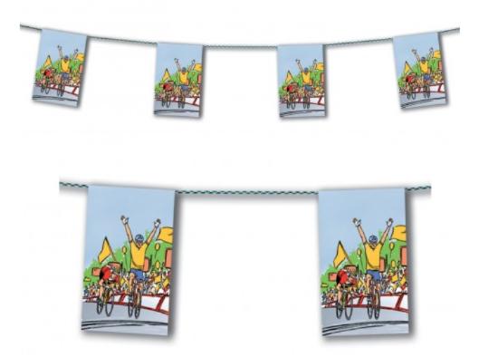 Guirlande fanions cycliste en papier pas cher