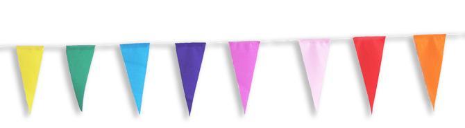 guirlande fanions en papier multicolore pas cher