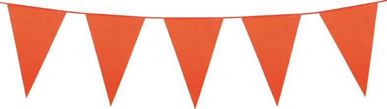 Guirlande fanions géants orange pas cher