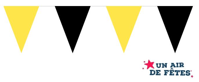 Guirlande fanions jaune et noir pour éxterieur pas cher