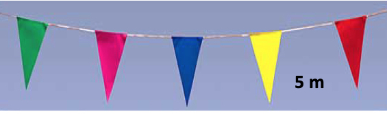 guirlande fanions multicolore triangulaires 5 m pas cher
