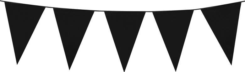Guirlande fanions noirs géants en plastique