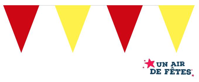 guirlande fanions rouge et jaune pas cher
