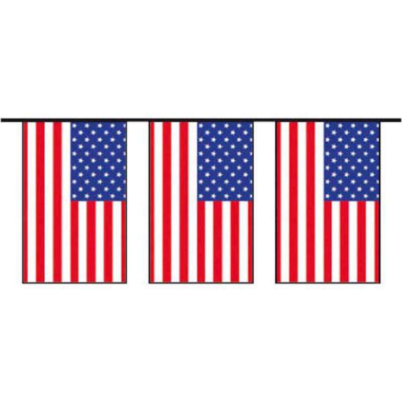 Guirlande fanions USA grand modèle pas cher