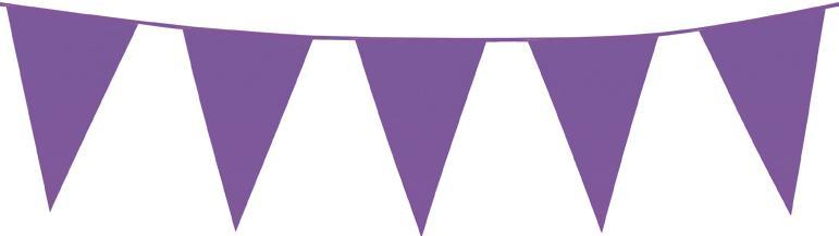Guirlande fanions violets en plastique pas cher