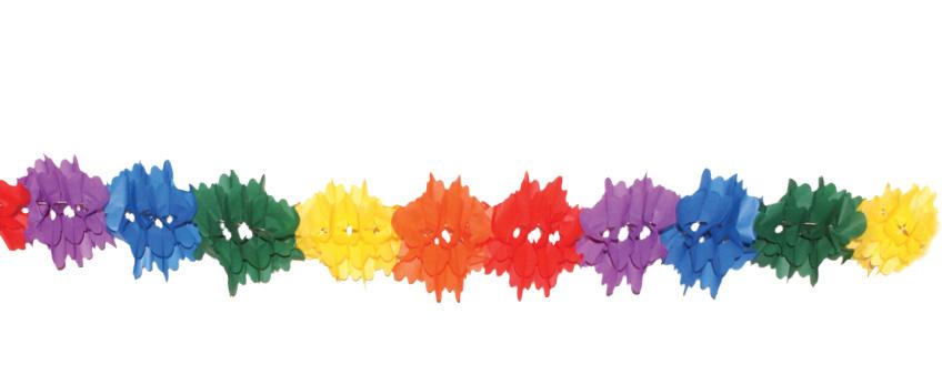 guirlande fleur papier multicolore ignifugée pas cher