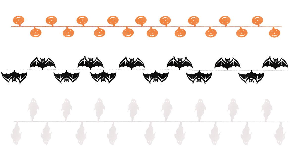 Guirlande halloween fil assortis pas cher