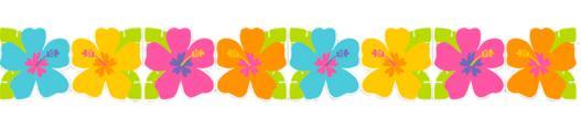 Guirlande hawaïenne fleur Papier pas cher