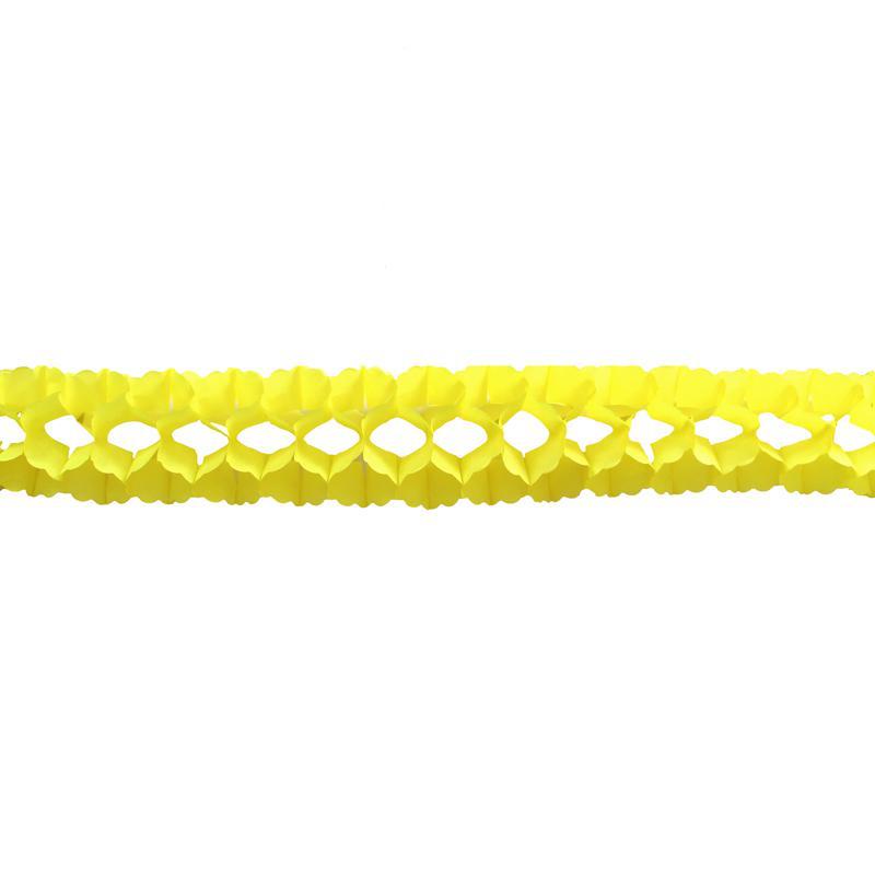 Guirlande jaune en papier pas cher