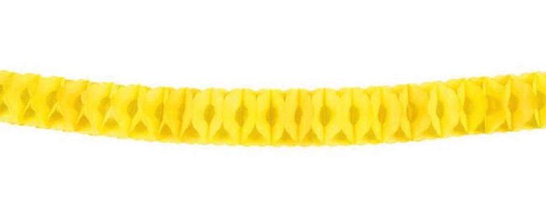 guirlande jaune en papier ignifugé pas cher