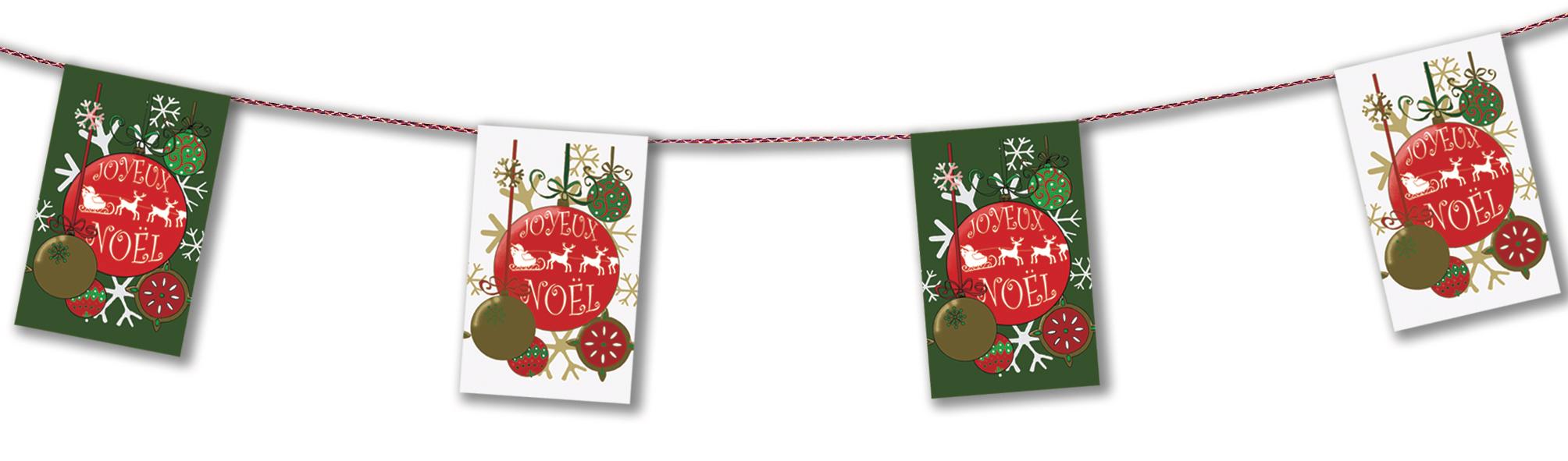 guirlande joyeux noël en papier ignifugé pour décoration