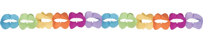 Guirlande multicolore papier boa pas cher