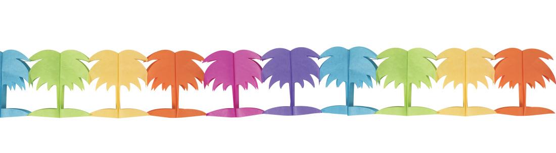 guirlande multicolore papier palmier pas cher