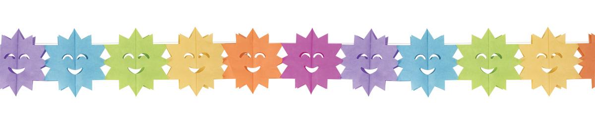 Guirlande multicolore papier soleil pas cher