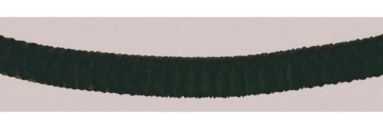 Guirlande noire en papier ignifugé pas cher
