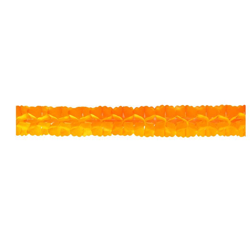 guirlande orange en papier pas cher