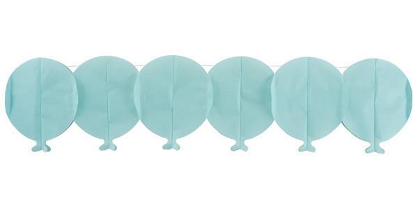 Guirlande papier ballon bleu pas cher