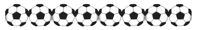 Guirlande papier ballons football pas cher