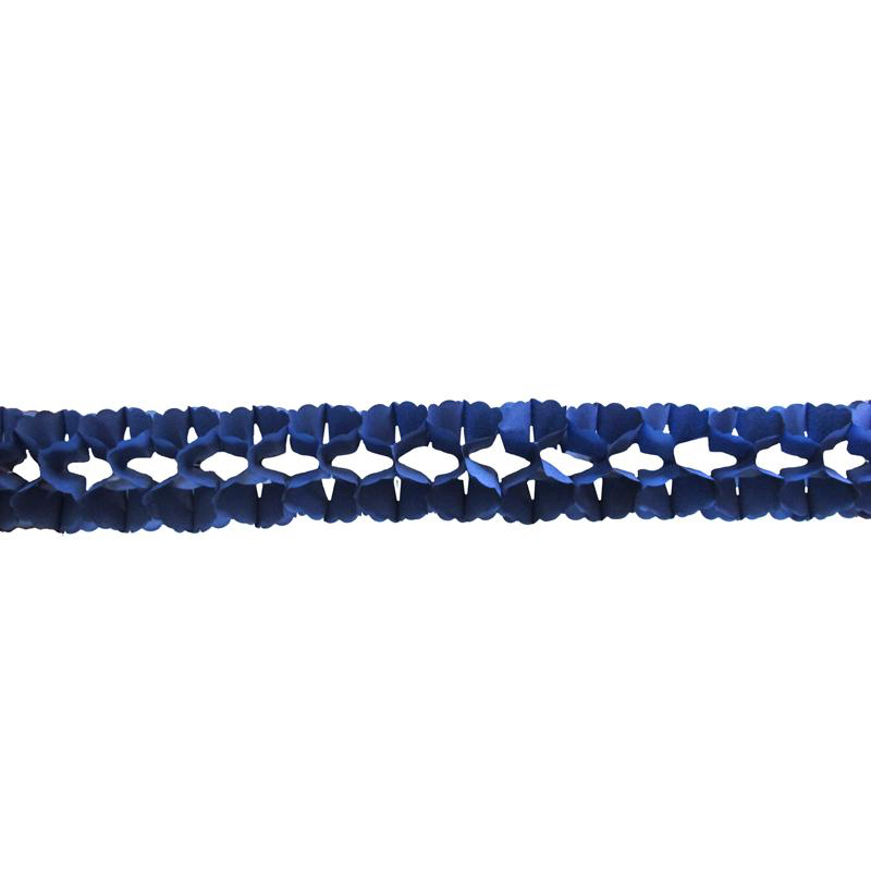 Guirlande papier boa bleu foncé pas cher