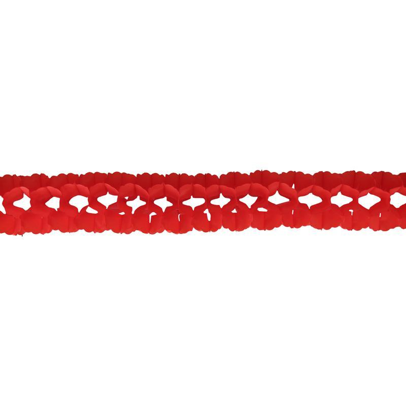 Guirlande papier boa rouge pas cher