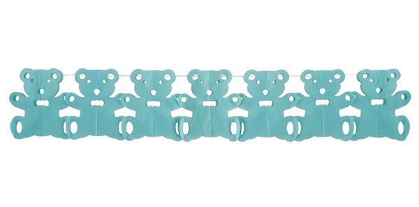 Guirlande papier ourson bleu pas cher