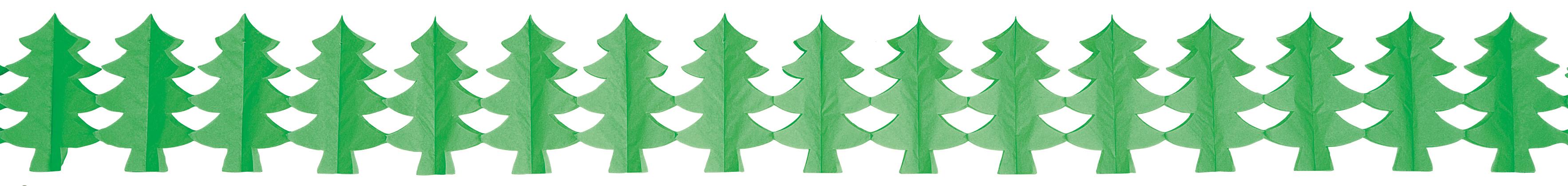Décoration guirlande sapin vert en papier ignifugé