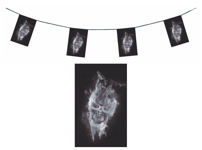 Guirlande squelette fantôme en papier ignifugé pour Halloween