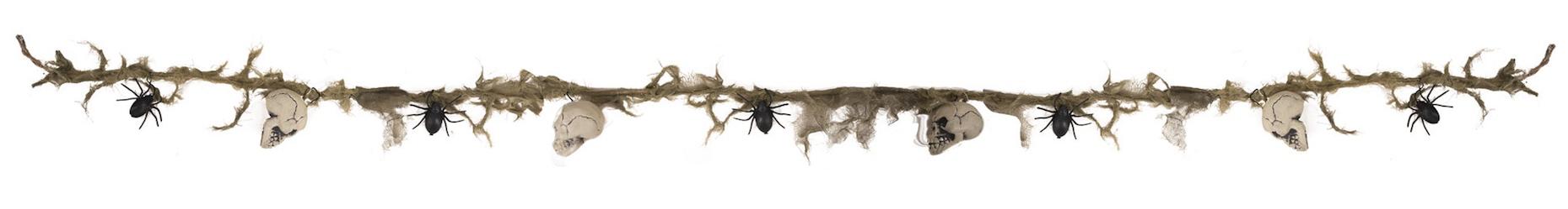 Guirlande Têtes de mort et araignées pas cher