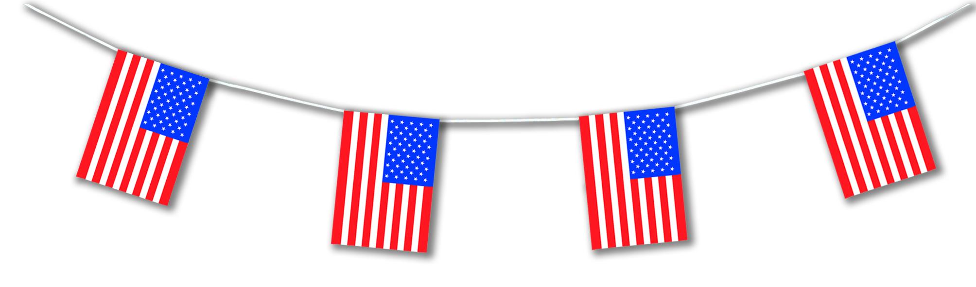 guirlande drapeau usa en plastique