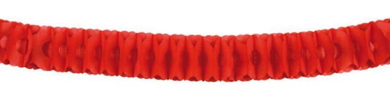 Guirlande rouge en papier ignifugé pas cher