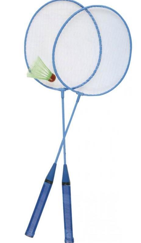 jeu de badminton avec raquettes et volant