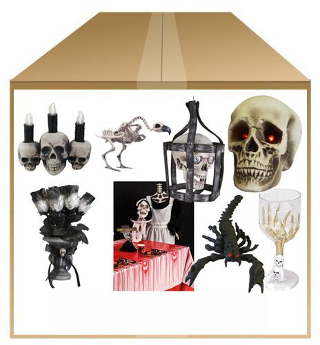 kit déco squelette halloween pas cher