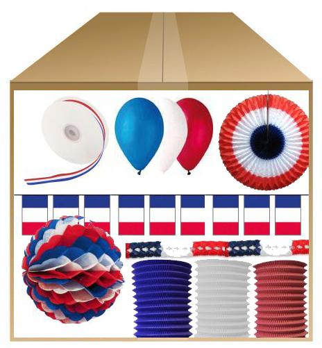 Déco 14 juillet : KIT de décoration fête nationale