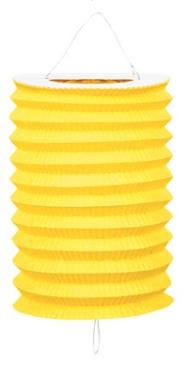 Lampion jaune 16 cm ignifugé pas cher