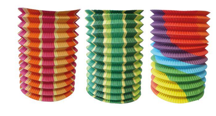 Lampion cylindrique multicolore pas cher