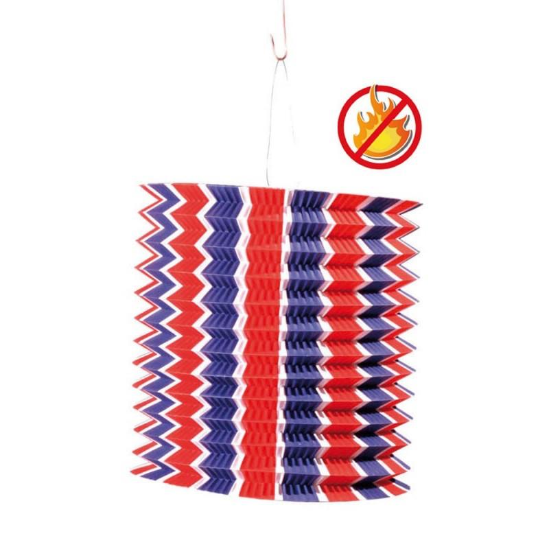 lampion cylindrique tricolore ignifugé pas cher