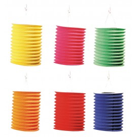 lampion cylindrique unicolor 13 cm pas cher