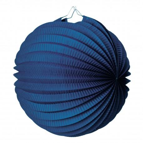Lampion rond bleu marine pas cher