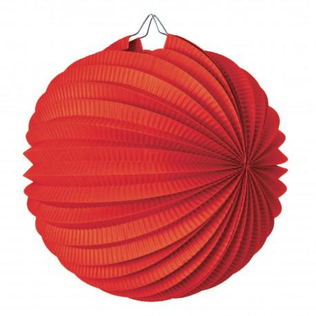 Lampion rond rouge pas cher
