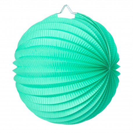 Lampion rond vert  celadon pas cher