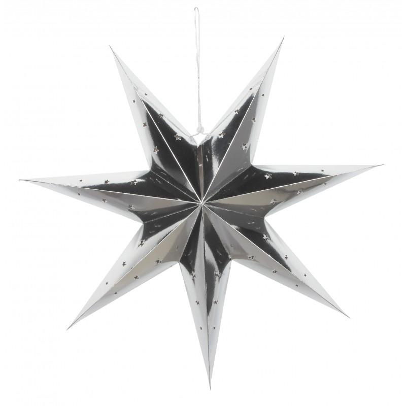 Lanterne étoile argent XL pas cher