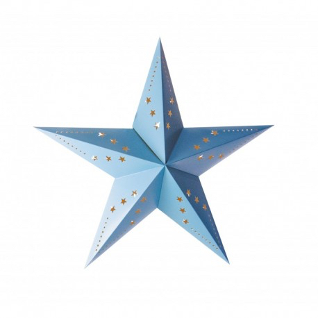 Lanterne étoile bleu pas cher