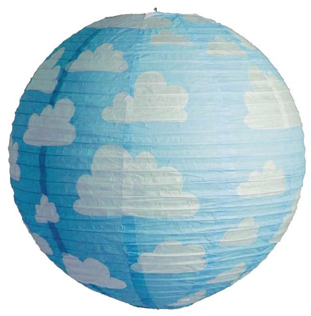 Lanterne japonaise bleue à nuages pas cher