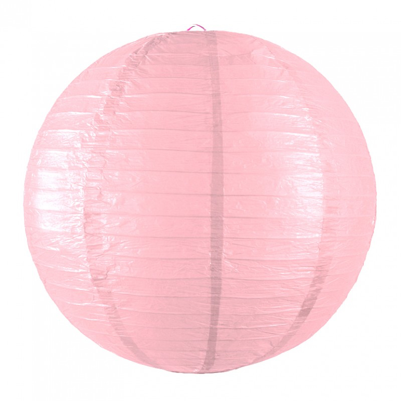 Lanterne japonaise rose dragée pas cher